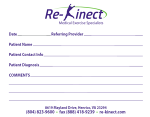 Re-Kinect Referral Pad