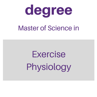 Degree Master of Science in Exercise Science